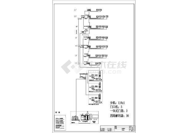 [福建]高层住宅楼智能化图纸-图一