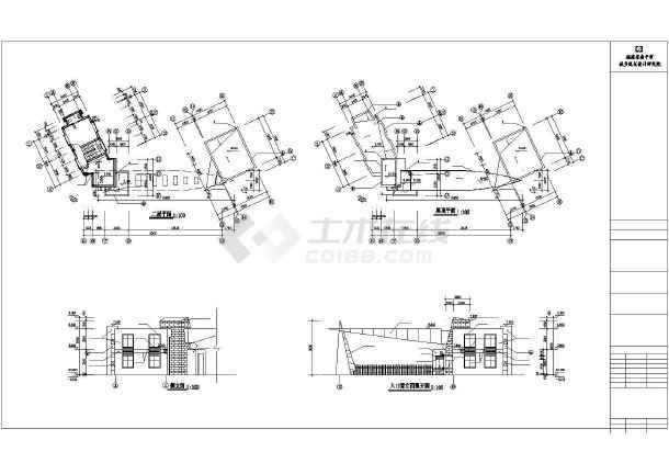 点击查看某小学大门建筑设计施工cad图第1张大图