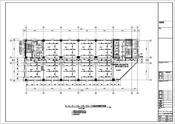 安徽60万平低密度复合建筑群给排水图纸-图一