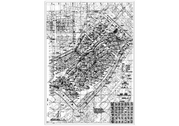某居住小区总平面建筑设计CAD图纸-图1