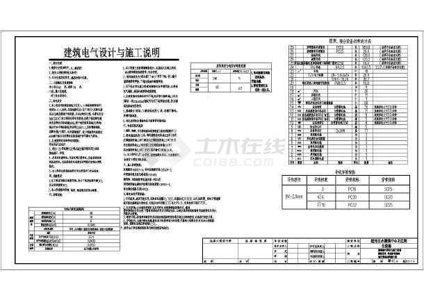 点击查看[黑龙江]某卫生院扩建工程电气施工图第1张大图