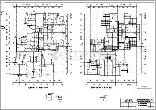 重庆某服装城整层结构设计及装修cad施工图纸-图二