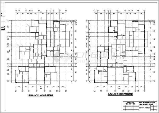 重庆某服装城整层结构设计及装修cad施工图纸-图2