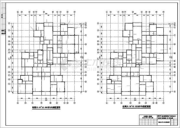 重庆某服装城整层结构设计及装修cad施工图纸-图3