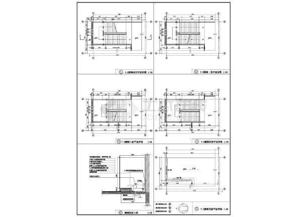 某地大型学校综合楼建筑图-图1
