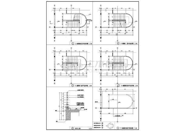 某地大型学校综合楼建筑图-图2