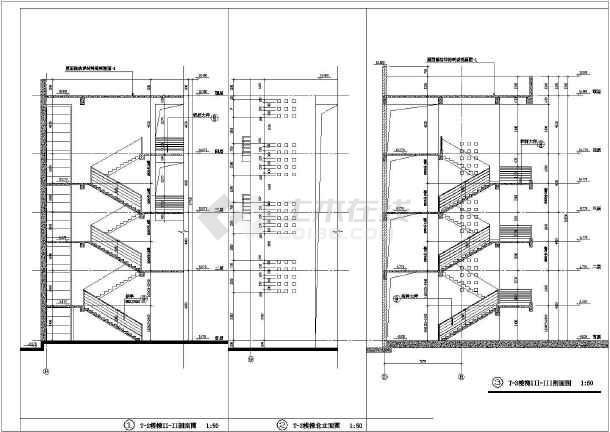 某地大型学校综合楼建筑图-图3