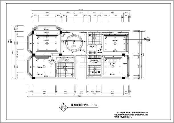 某酒店豪华套房室内装修cad施工图-图1
