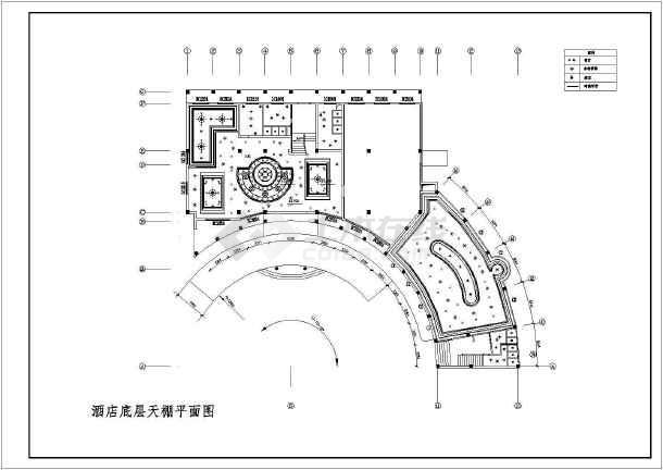 某地商业酒店装修设计图-图1