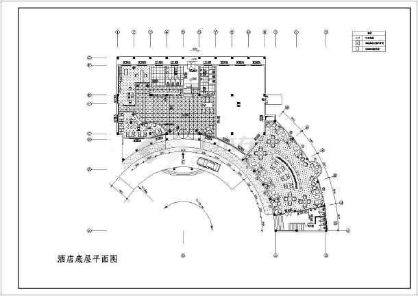 某地商业酒店装修设计图-图2