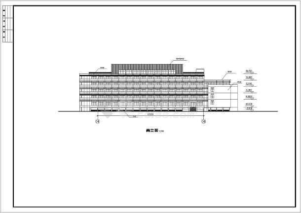 点击查看某地学校体育馆活动中心建筑立面图第1张大图