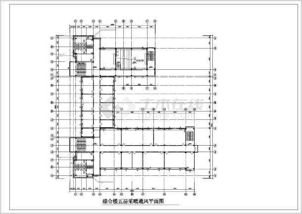 某学院综合楼采暖通风图-图3