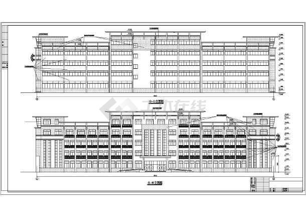 点击查看某地详细办公楼建筑设计cad施工图第1张大图