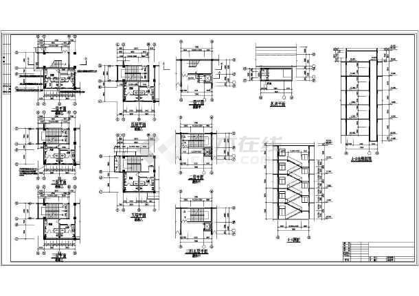 点击查看某地详细办公楼建筑设计cad施工图第2张大图