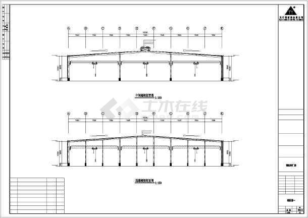 某地钢框架厂房建筑施工图-图2