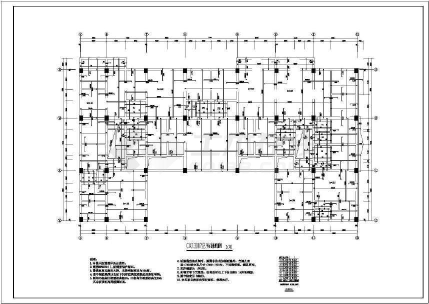 某地多层住宅结构全套施工图-图二