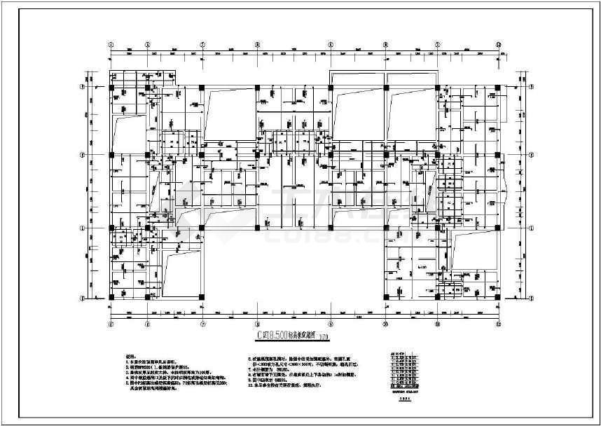某地多层住宅结构全套施工图-图3