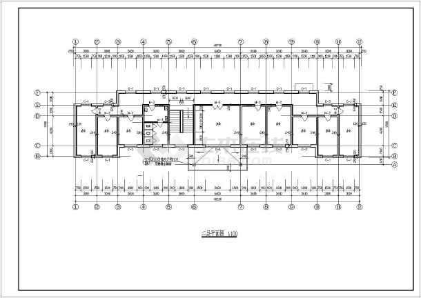 一整套两层小型办公楼建筑设计施工图纸-图1