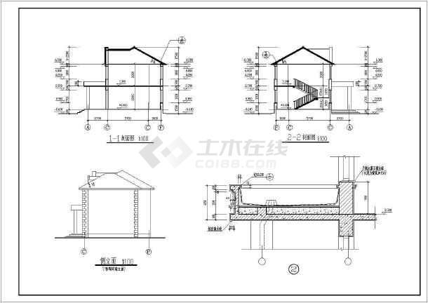 一整套两层小型办公楼建筑设计施工图纸-图2