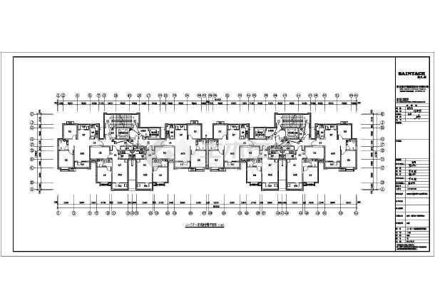 [河北]31层高层住宅楼带人防电气施工图-图二