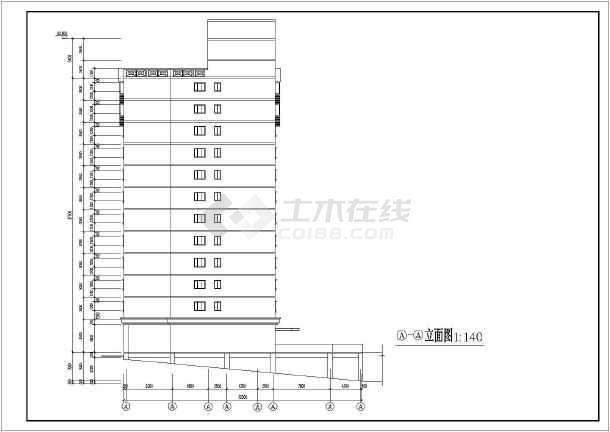 重庆中学教学楼建筑施工图(共9张)-图一