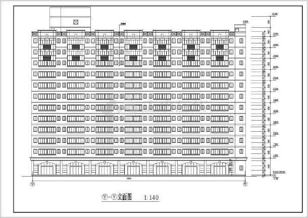 重庆中学教学楼建筑施工图(共9张)-图二