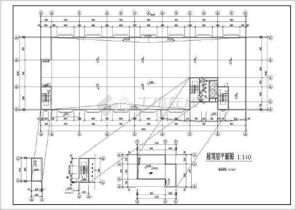 重庆中学教学楼建筑施工图(共9张)-图3