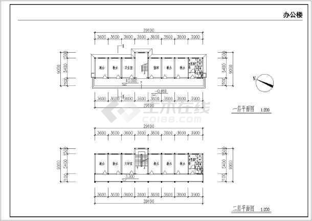 某地农村中学扩建工程全套建筑施工图-图1