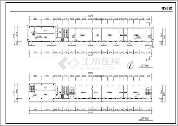 某地农村中学扩建工程全套建筑施工图-图2