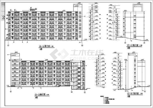 某地六层住宅楼建筑设计方案图(共7张)-图1