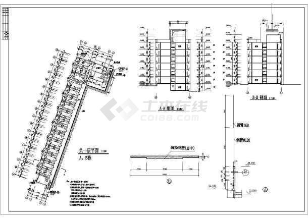 某地六层住宅楼建筑设计方案图(共7张)-图2