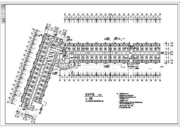 某地六层住宅楼建筑设计方案图(共7张)-图3
