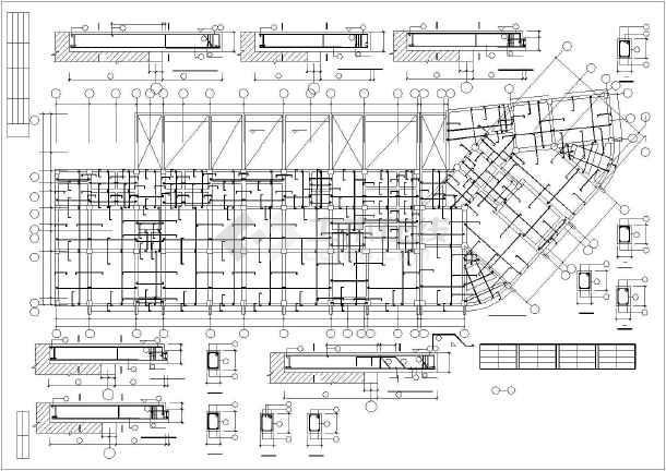 某市住宅楼底框全套结构cad设计施工图纸-图1