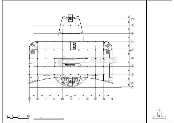 点击查看某培训中心建筑设计方案CAD图第1张大图