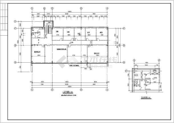 某2层钢结构售楼处建筑结构设计图-图1