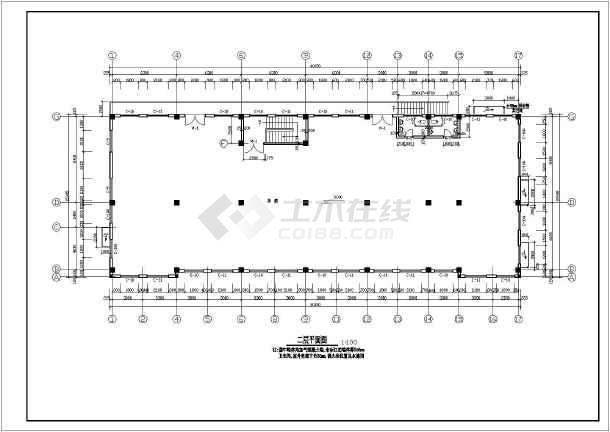 某工厂综合楼建筑施工图-图1