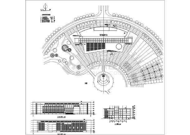 某图书信息中心建筑设计方案CAD图-图一