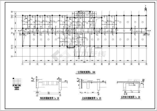 某基地办公楼结构设计图-图3