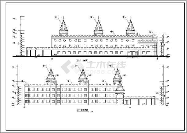 点击查看某地幼儿园平立面方案建筑图(共6张)第1张大图