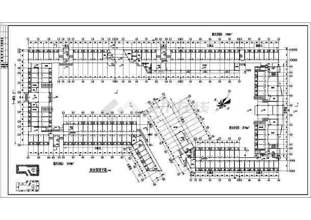 某地学生宿舍建筑施工图(共8张)-图1