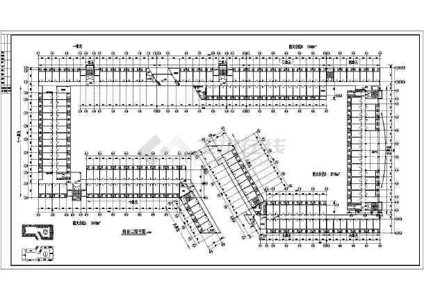 某地学生宿舍建筑施工图(共8张)-图2