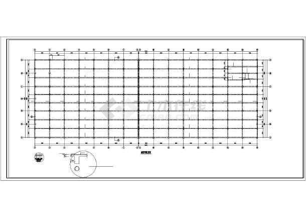 某框架厂房结构设计图-图一