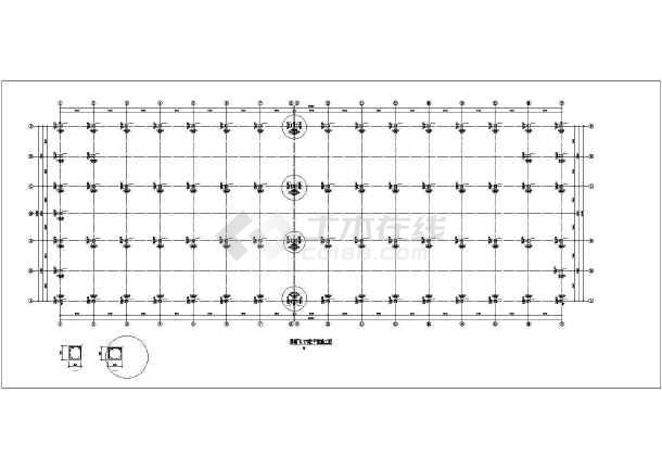 某框架厂房结构设计图-图二
