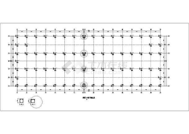 某框架厂房结构设计图-图1