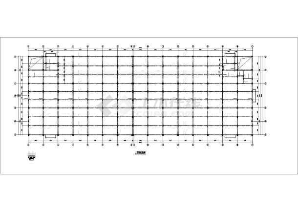某框架厂房结构设计图-图2