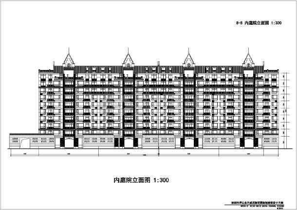 某地多层住宅楼建筑设计方案图(共6张)-图1