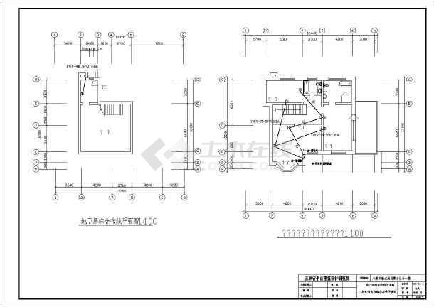 某北方小区别墅全套建筑电气图纸-图一