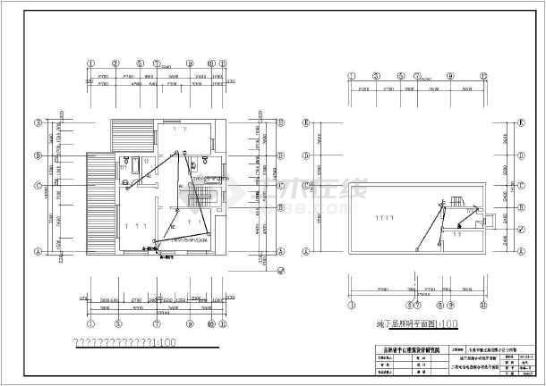 某北方小区别墅全套建筑电气图纸-图二