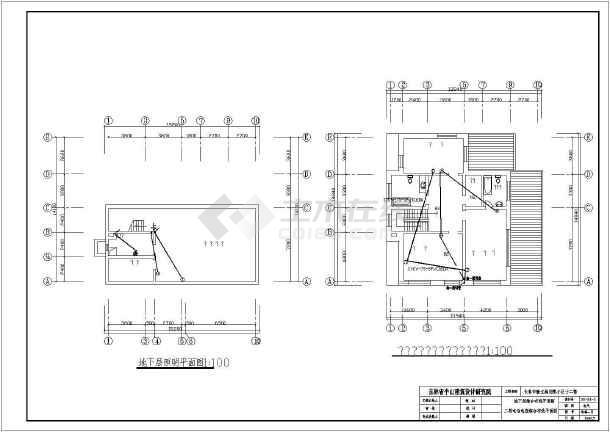 某北方小区别墅全套建筑电气图纸-图2