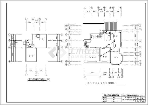 某北方小区别墅全套建筑电气图纸-图3